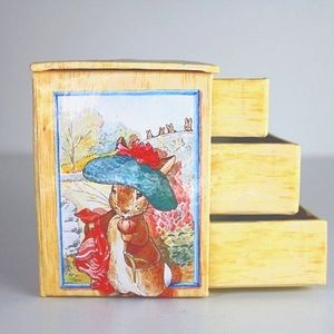 VINTAGE Peter Rabbit mini chest of drawers